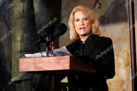 Stock Photo of News commentator Greta Van Susteren speaks at the opening of the Dwight D Eisenhower Memorial, honoring the legacy of the World War II Supreme Allied Commander and nation's 34th President