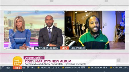 Stock Picture of Kate Garraway, Alex Beresford and Ziggy Marley