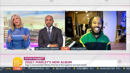 Stock Photo of Kate Garraway, Alex Beresford and Ziggy Marley