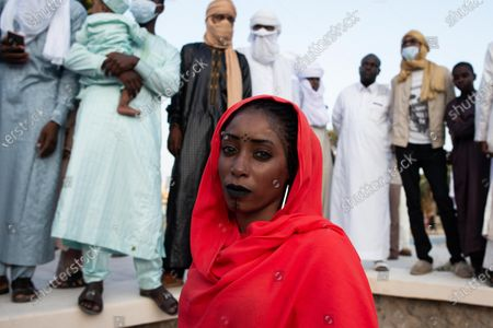 Stock Photo of A woman takes part in the Libyan Tabu cultural festival in Tripoli, Libya, on Sept. 17, 2020.