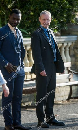 John Simm playing cop Roy Grace with Richie Campbell