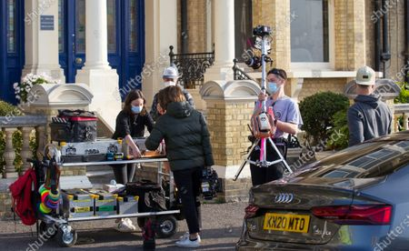 Filming Peter James' new detective series in Brighton today