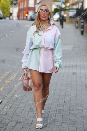 Editorial picture of Exclusive - Marnie Simpson Bye Bye Gluten product launch, St Villa Restaurant, St Albans, Hertfordshire, UK - 17 Sep 2020