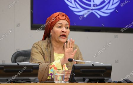 Editorial image of Deputy Secretary-General Amina Mohammed  Presser, UN Headquarters, New York, USA - 17 Sep 2020