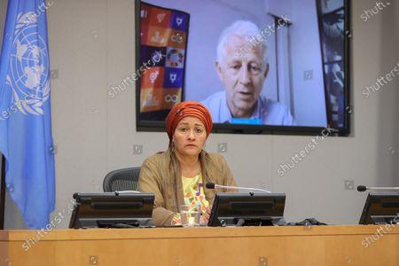 Editorial photo of Deputy Secretary-General Amina Mohammed  Presser, UN Headquarters, New York, USA - 17 Sep 2020