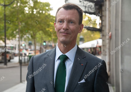 Stock Picture of Prince Joachim arrives at the Danish Embassy. He becomes the new Defence Counsellor at the Danish Embassy in France.