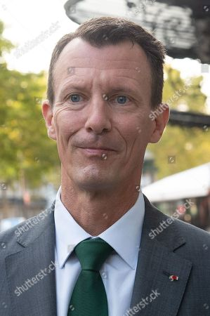 Stock Image of Prince Joachim arrives at the Danish Embassy. He becomes the new Defence Counsellor at the Danish Embassy in France.