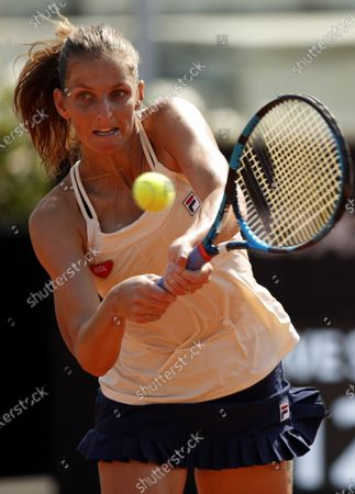 Stock Picture of Karolina Pliskova of Czech Republic in action during her third round match against Anna Blinkova of Russia at the Italian Open in Rome, Italy, 18 September 2020.
