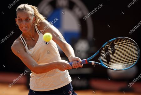 Stock Photo of Karolina Pliskova of Czech Republic in action during her third round match against Anna Blinkova of Russia at the Italian Open in Rome, Italy, 18 September 2020.