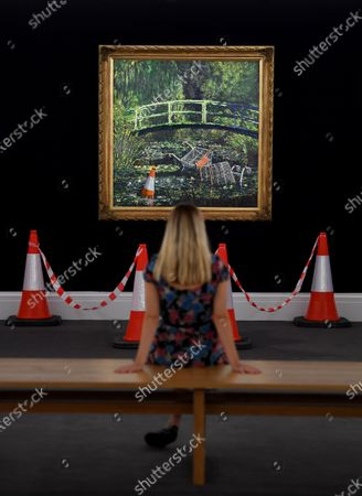 'Show Me the Monet' by Banksy, est. 3-5m GBP - To be sold as the highlight of the Modernites/Contemporary Evening Auction at Sotheby's London, which will be live streamed on 21 October.