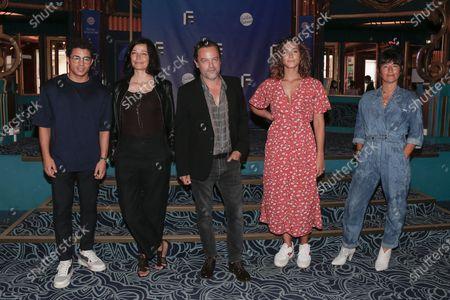 Stock Image of Samy Seghir, Marianne Denicourt, Patrick Mille, Manon Azem, Romane Bohringer