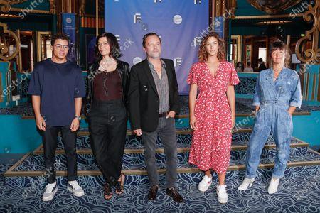 Stock Photo of Samy Seghir, Marianne Denicourt, Patrick Mille, Manon Azem, Romane Bohringer
