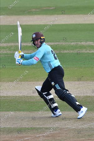 Jason Roy of Surrey batting during the Vitality T20 Blast South Group match between Hampshire County Cricket Club and Surrey County Cricket Club at the Ageas Bowl, Southampton