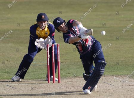 Stock Photo of Sam Billings bats for Kent during Kent Spitfires vs Essex Eagles, Vitality Blast T20 Cricket at The Spitfire Ground on 18th September 2020