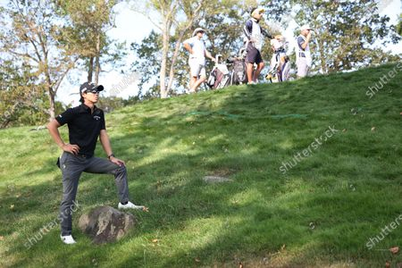 Ryo Ishikawa of Japan on the seventeenth hole during the second round of the 2020 US Open at Winged Foot Golf Club in Mamaroneck, New York, USA, 18 September 2020. The 2020 US Open will be played from 17 September through 20 September in front of no fans due to the ongoing coronovirus pandemic.