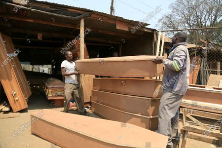 Editorial picture of Man gets into coffin making business, Harare, Zimbabwe - 18 Sep 2020
