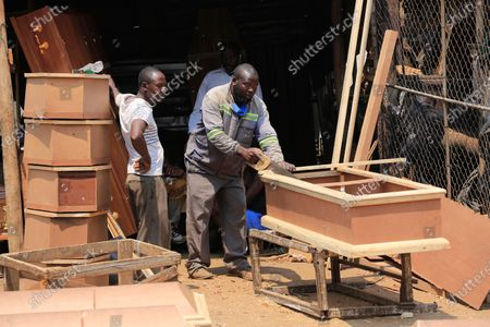 Editorial photo of Man gets into coffin making business, Harare, Zimbabwe - 18 Sep 2020