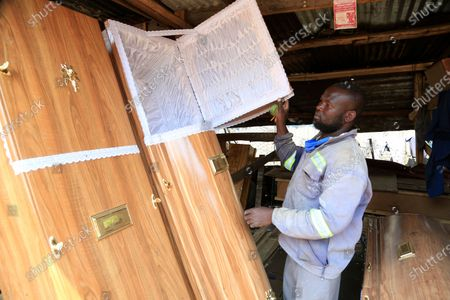 Editorial image of Man gets into coffin making business, Harare, Zimbabwe - 18 Sep 2020