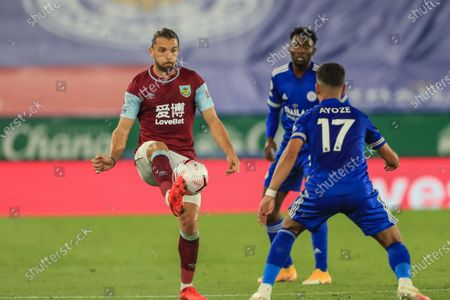 Jay Rodriguez (19) of Burnley controls the ball