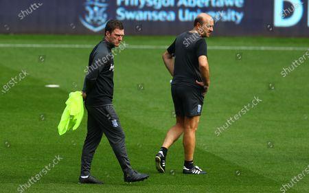 Birmingham City first team coach Craig Gardner and head of analysis Juanjo Vila