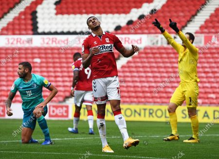 Editorial image of Middlesbrough v AFC Bournemouth, EFL Sky Bet Championship, Football, The Riverside Stadium, Middlesbrough, UK - 19 Sep 2020