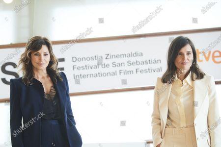 Elena Anaya, Gina Gershon attended 'Rifkin's Festival' Photocall during 68th San Sebastian International Film Festival at Kursaal Palace on September 18, 2020 in Donostia / San Sebastian, Spain