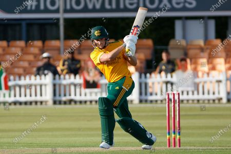Joe Clarke batting during the Vitality T20 Blast North Group match between Leicestershire Foxes and Notts Outlaws at the Fischer County Ground, Grace Road, Leicester
