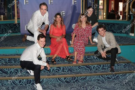 Arthur Mazet, Bruno Paviot, Vanessa Guide, Noemie Schmidt, Rio Vega, Paul Scarfoglio - '3615 Monique' Photocall at the 'Festival de la Fiction TV 2020' held at the 'Folies Bergere' in Paris, France