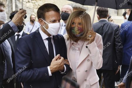 French President Emmanuel Macron visit to Condom