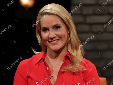 German TV host Judith Rakers attends the recording of the talk show '3nach9'  in Bremen, northern Germany, 18 September 2020. The '3nach9' (lit.: Three past Nine) show of public German TV and radio station Radio Bremen is the oldest continuously broadcasted television talk show in Germany.