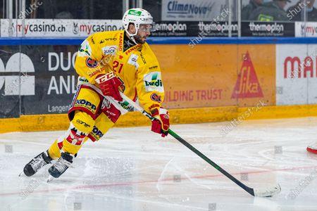 # 21 Jason Fuchs (Biel) during the National League preparation ice hockey game between EV Zug and EHC Biel-Biennein the Bossard Arena