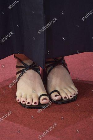 Georgina Amoros, shoe detail