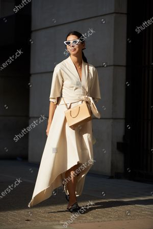 Editorial picture of Street Style, Spring Summer 2021, London Fashion Week, UK - 18 Sep 2020