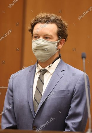 Actor Danny Masterson is arraigned on three rape charges in separate incidents between 2001 and 2003, at Los Angeles Superior Court, in Los Angeles, California, USA, 18 September 2020.