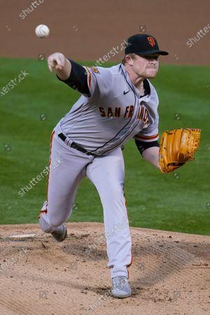 Editorial photo of Giants Athletics Baseball, Oakland, United States - 18 Sep 2020