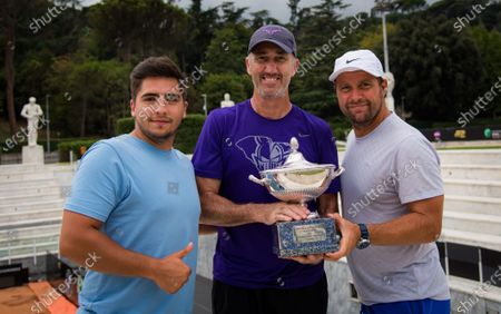 Darren Cahill and team during the champions trophy shoot after the 2020 Internazionali BNL d'Italia WTA Premier 5 tennis tournament