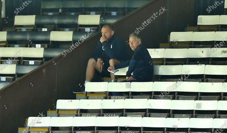 Darren Ferguson manager of Peterborough United watching from stands