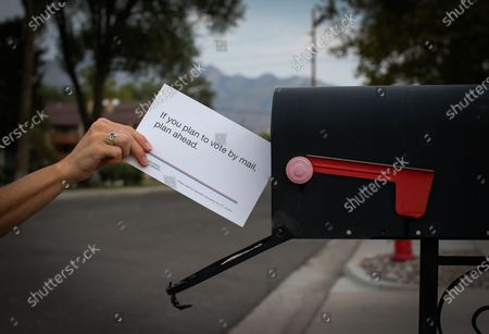 Editorial picture of USPS send wrong mail-in voting information notice to all Utahns, Utah, USA - 18 Sep 2020