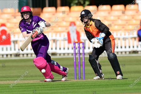 Sarah Bryce of Lightning during the Rachael Heyhoe Flint Trophy match between Loughborough Lightning and Central Sparks at the Fischer County Ground, Grace Road, Leicester