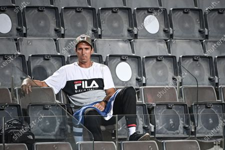 Carlos Moya, coach of Spain's Rafael Nadal during the men's singles quarter-finals round match Rafael Nadal of Spain against Diego Schwartzman of Argentina at the Italian Open tennis tournament in Rome, Italy, 19 September 2020.