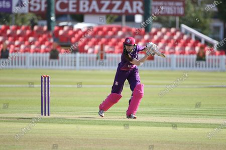 Sarah Bryce batting during the Rachael Heyhoe Flint Trophy match between Loughborough Lightning and Central Sparks at the Fischer County Ground, Grace Road, Leicester