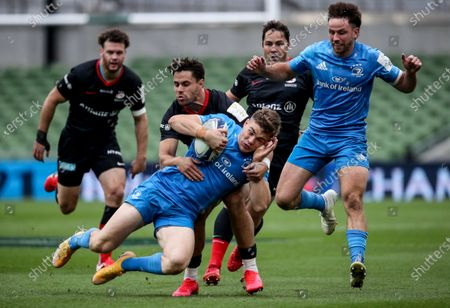 Leinster vs Saracens. Leinster's Garry Ringrose is tackled by Sean Maitland of Saracens
