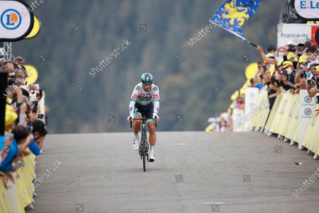 Slovakia's Peter Saganc rides during stage 20 of the Tour de France cycling race, an individual time trial over 36.2 kilometers (22.5 miles), from Lure to La Planche des Belles Filles, France