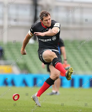 Alex Goode converts his own Try to put Saracens into a 22-3 lead
