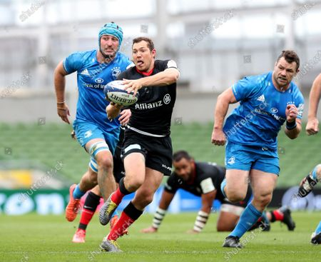 Alex Goode dummies his way through to score the opening Try of the game for Saracens