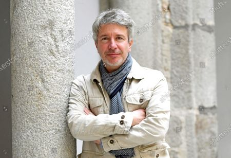 French writer Eric Vuillard attends the Hay Festival in Segovia, Spain, 19 September 2020. The event runs from 17 to 20 September 2020.