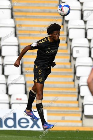 Sido Jombati Oldham Athletic A.F.C. during Stevenage vs Oldham Athletic, Sky Bet EFL League 2 Football at the Lamex Stadium on 19th September 2020