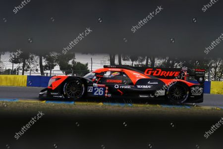 G-Drive Racing (starting no.26) in a Aurus 01 -  Gibson with Roman Rusinov of Russia, Mikkel Jensen of Denmark and Jean Eric Vergne of France in action during the Le Mans 24 Hours race in Le Mans, France, 19 September 2020. The race is scheduled to finish at 2.30 pm local time on 20 September.