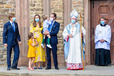 Editorial picture of The Christening of Prince Charles of Luxembourg, Abbaye Saint-Maurice, Clervaux, Luxembourg - 19 Sep 2020