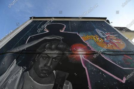 A mural dedicated to British musician George Michael near the site of his old home in Kingsbury in north London, Britain, 19 September 2020. Artist Dawn Mellor said it celebrates the singer as a pioneering cultural and LGBTQ+ figure. The artwork is in Kingsbury, north west London, where he lived and went to school.